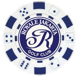 Dice design Custom Poker Chip Ball Marker - Foil Heat Stamped